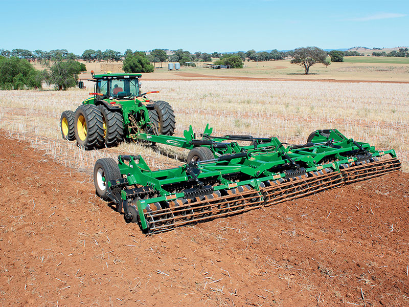 The K-Line Speedtiller penetrating the soil