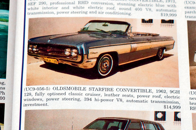 Olds -starfire -convertible