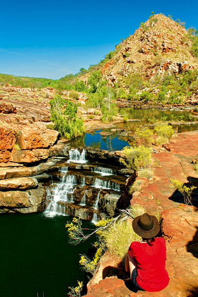 Waterfall -in -Bell -Gorge -King -Leopold -Range -Conservation -Park -WA