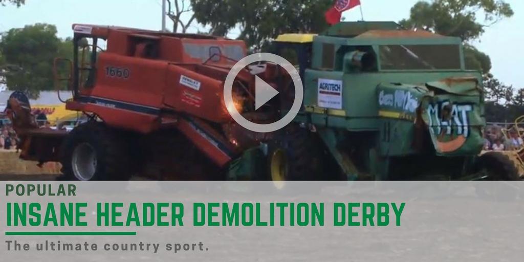 insane header demolition derby