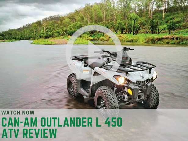 can am outlander l 450 atv