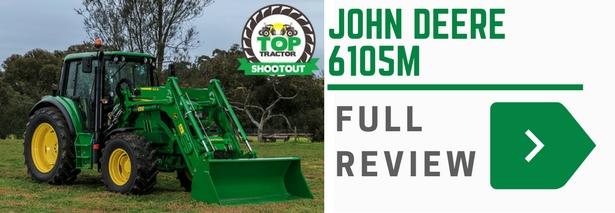 John Deere JD6105M tractor
