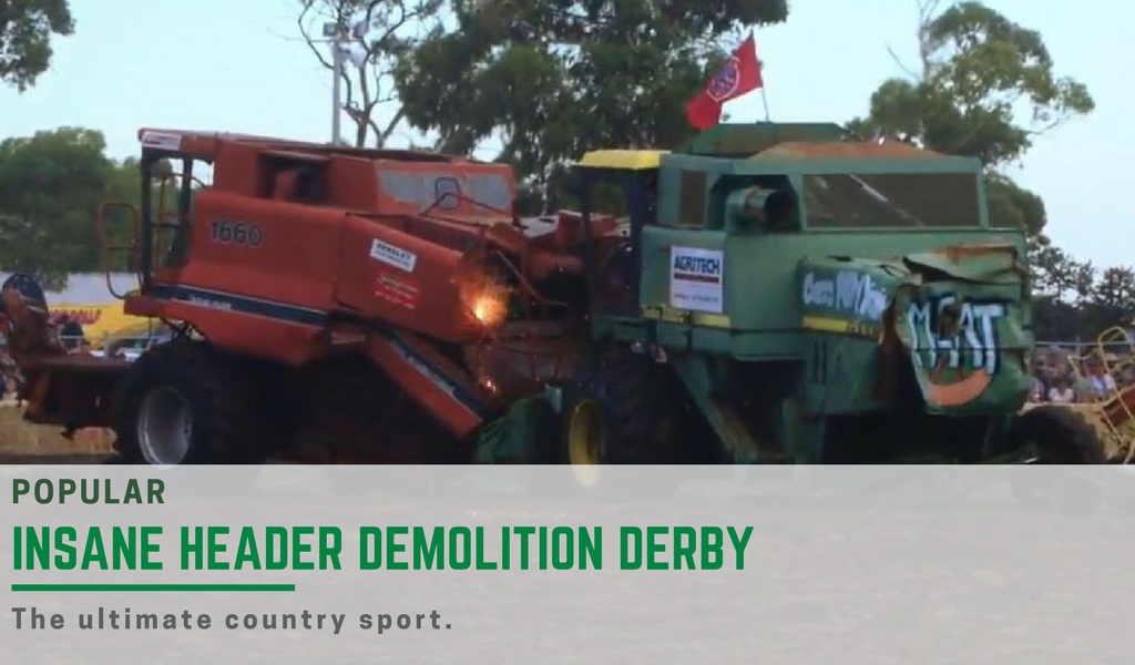 insane header demolition derby