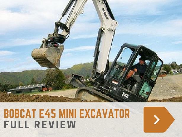 Bobcat E45 mini excavator