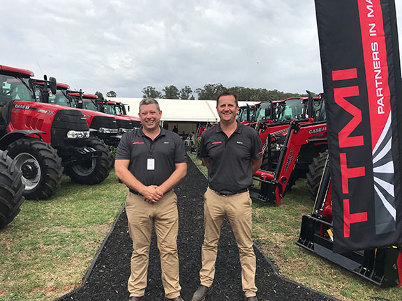 Jason Henry (left) and Murray Tuck (right) of TTMI tractors