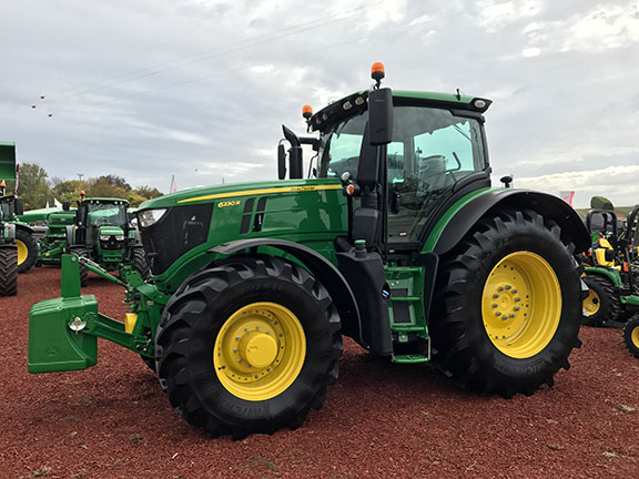 The John Deere 6230R front on