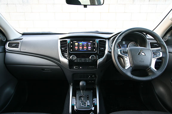 The inside interior of the triton