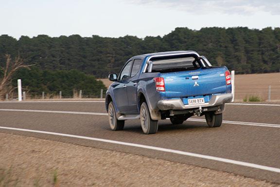 Mitsubishi Triton on the road