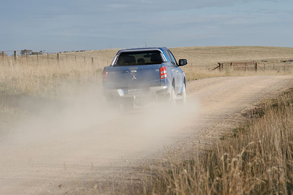 The Mitsubishi triton off road