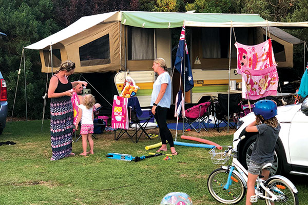 Family -at -Foreshore -Camping -Reserve