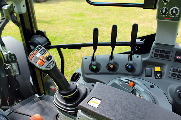 The Claas Arion 460's multi-functional armrest