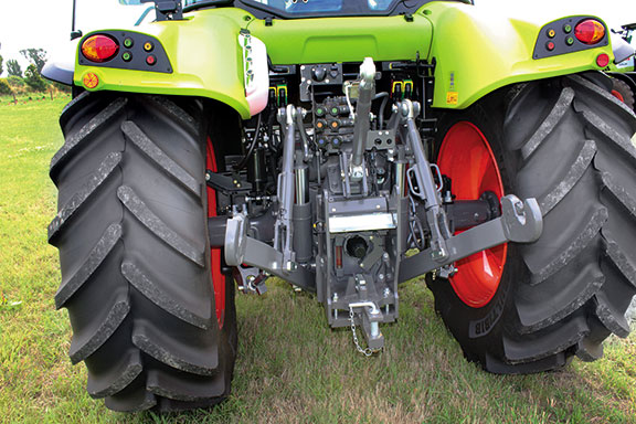 The rear of the tractor is well laid out