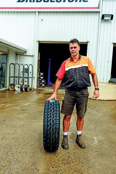 Man -at -a -service -shop -holds -a -tyre