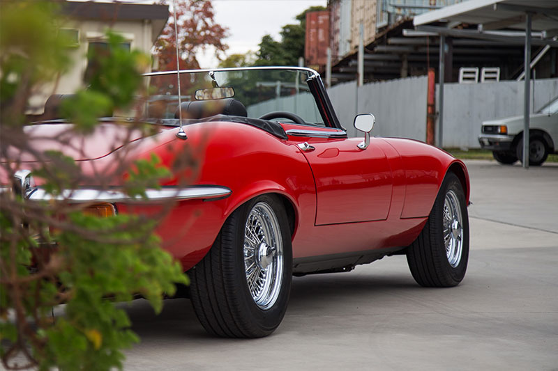 Jaguar -E-type -rear -flank