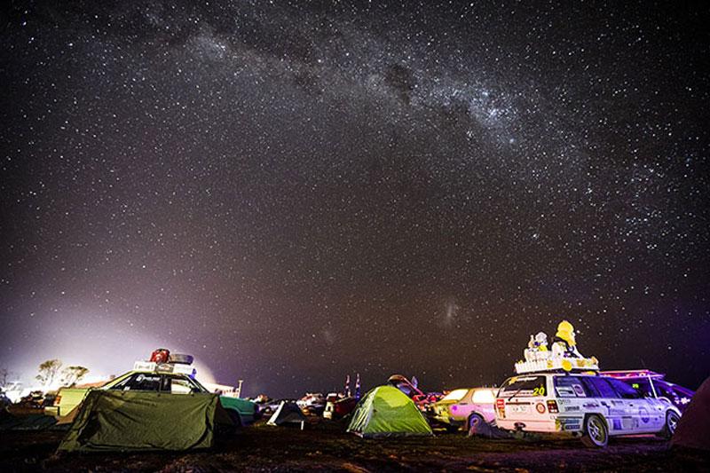 Shitbox -rally -camping