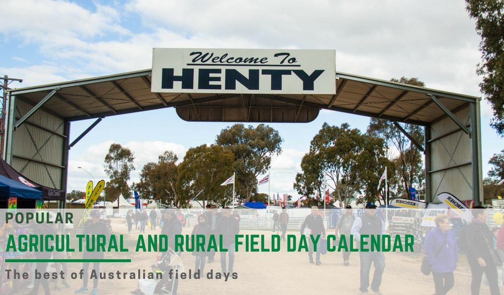 2018 Agricultural field day calender