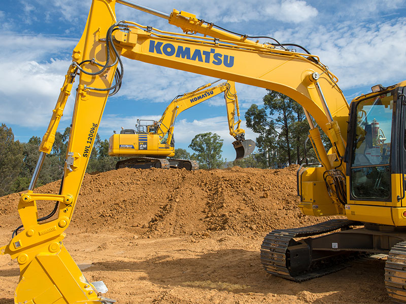 1.There Were New Komatsu Machines As Far As The Eye Can See At The Boots On Product Launch In Cessnock , NSW Earlier This Month