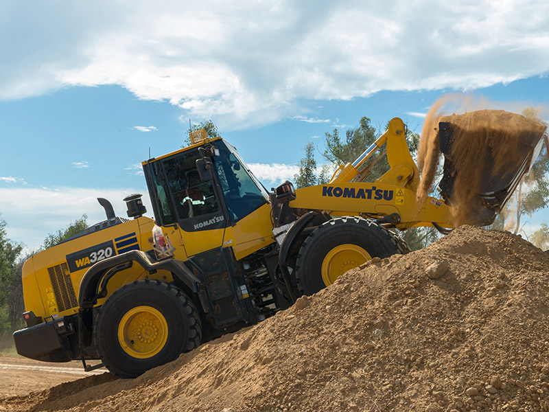2.The Komatsu WA320 Wheel Loader In Action