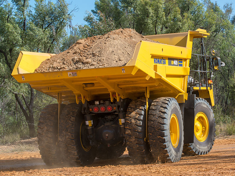 7.Komatsu HD405 Dump Truck Carries A Full Load