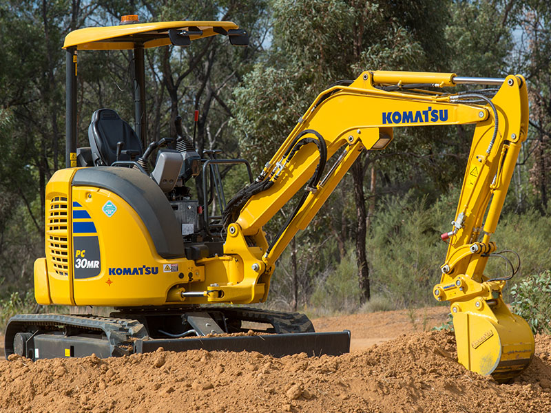 10.Good Things Come In Small Packages With The PC30MR Mini Excavator