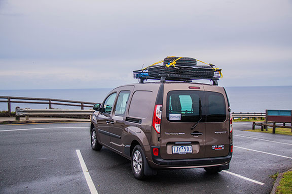 The Renault Kangoo poses at Byron Bay