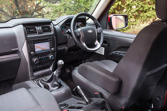 The Mahindra 4x4 Pik-Up cabin