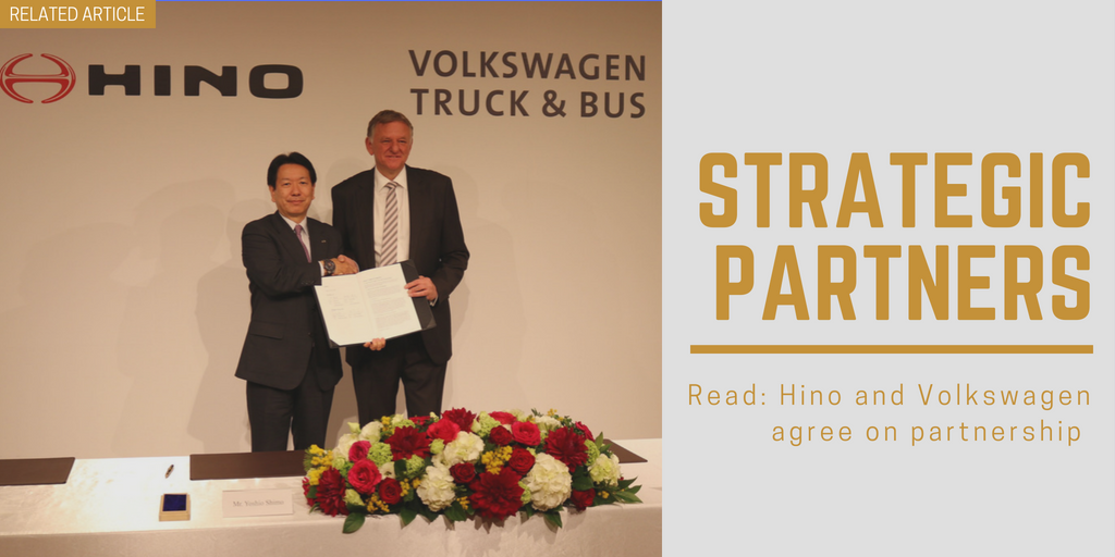 Related article: Hino and Volkswagen agree on partnership