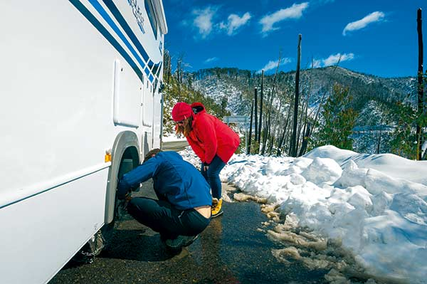 Jayco -motorhome -snow -travel