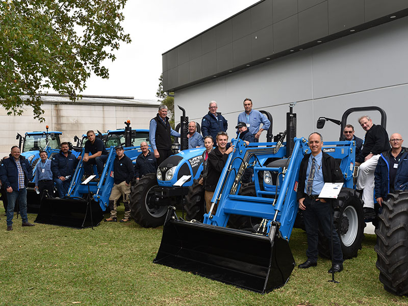 Inlon's Jim Jardim (MD) and Gary Surman (Sales & Marketing Manager) with Landini dealers