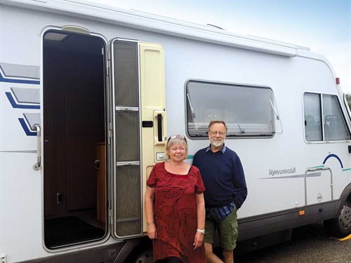 Stewart -and -Aileen -with -their -Hymer -motorhome