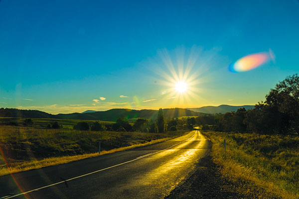 Sunset -view -from -the -road