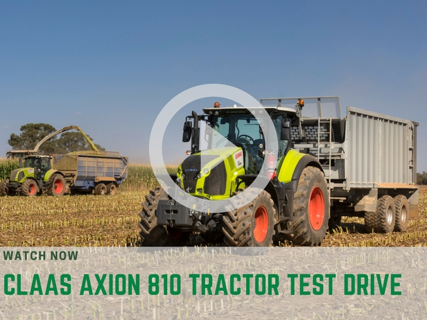 Claas Axion 810 test drive