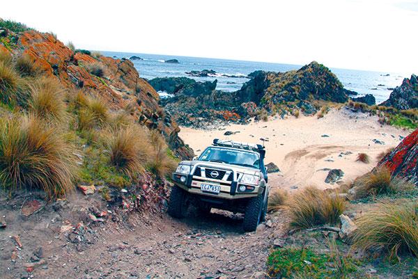4WD-driving -near -Couta -Rocks -west -coast -Tasmania
