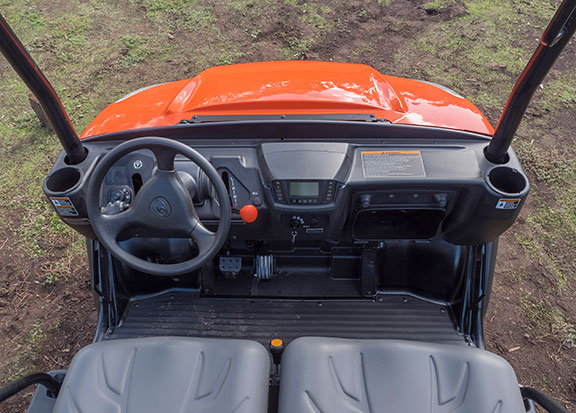 The Kubota RTV X900 working in the mud
