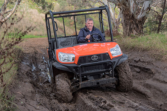 The Kubota RTV X900 attacking the hills