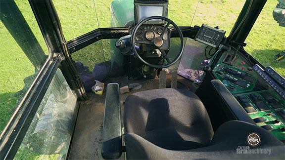 The rugged interior of the Crop Cruiser