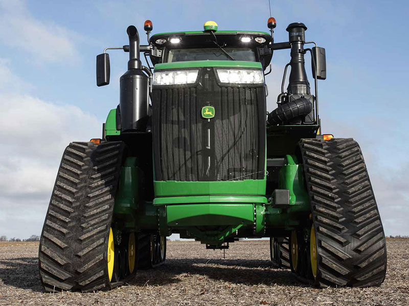 The John Deere 9R front on