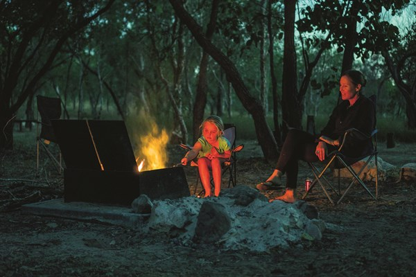 Camping At Butterfly Falls , A Shady Oasis In The Park _s South