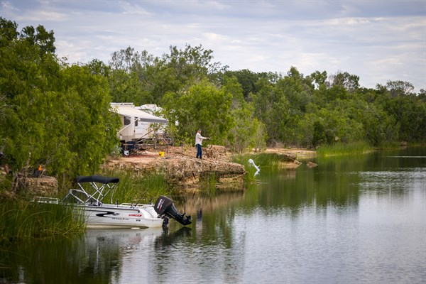 The Highset Bank At Towns River Keeps Anglers Safe From Crocs