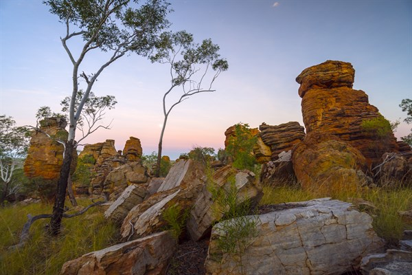 Weathered Sandstone Escarpments Create Two Lost Cities In The Park _s South