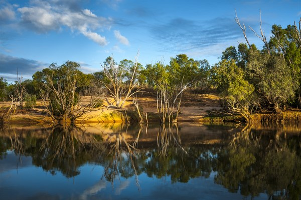 Although Tantalising To Travellers , Limmen _s Waterholes Are The Domain Of Estaurine Crocodiles