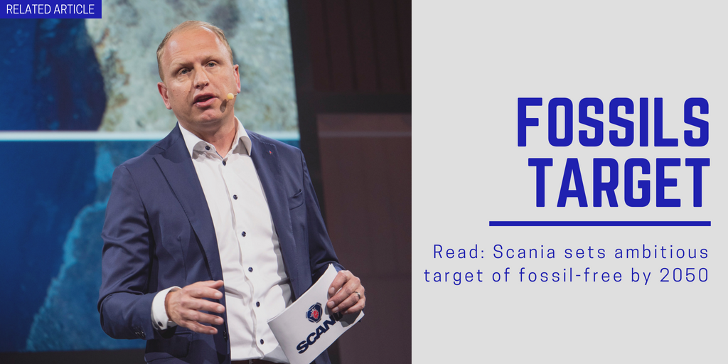 Related article: Scania sets ambitious target of fossil-free by 2050