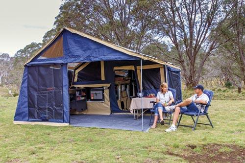 Soft Floor camper provides more space