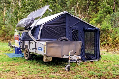 Solar Powered Camper in High Country