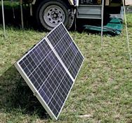 Solar Panels feed the battery