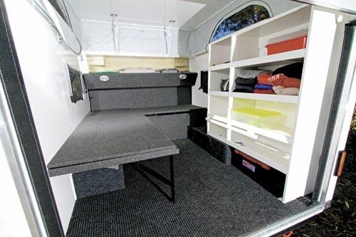 National -Campers -Toy -Hauler -interior