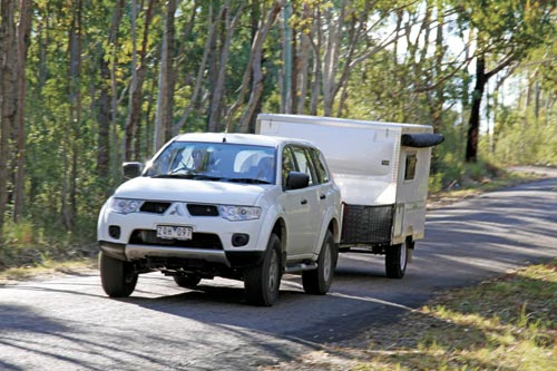 National -Campers -Toy -Hauler -on -the -road