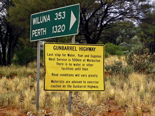 Gunbarrel Highway sign