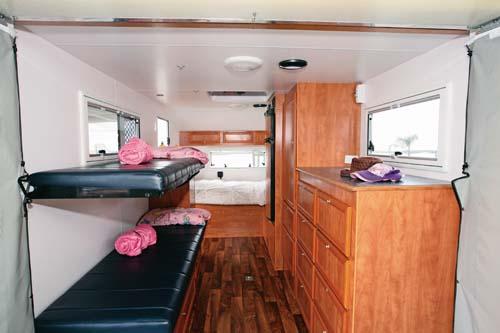 Caravan bunks