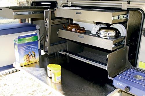 Echo 4x4 echo camper kitchen